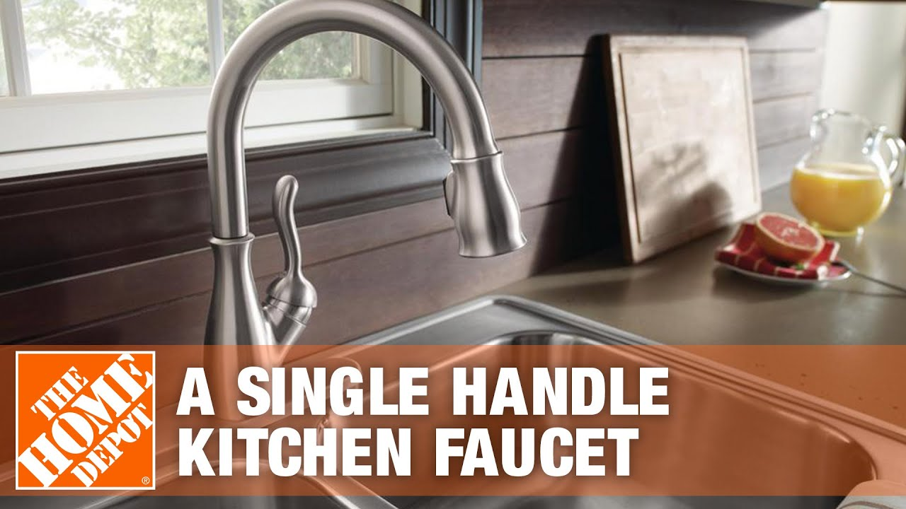 how to install delta kitchen faucet delta faucets how to install a single handle kitchen faucet the home depot youtube 6328
