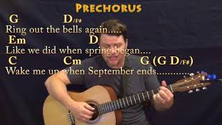 Wake Me Up When September Ends (Green Day) Fingerstyle Guitar Cover Lesson in G with Chords/Lyrics