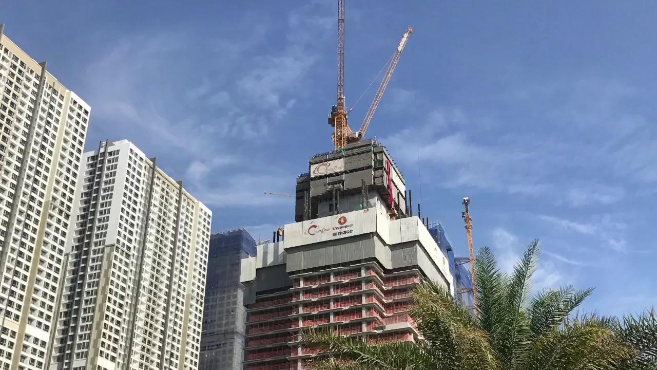 Công trường toà nhà cao nhất Việt Nam tại Vinhomes Central Park