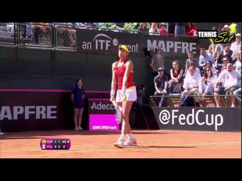 Garbine Muguruza vs Roberta Vinci Highlights HD Fed Cup 2016