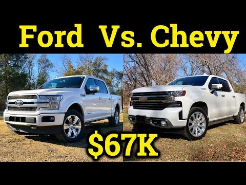 2019 Chevy Silverado High Country Vs. 2018 Ford F-150 Platinum