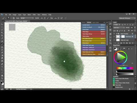 4. Watercolor Painting In Photoshop - How to achieve watercolor effects. Video 4