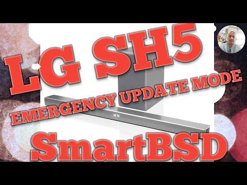 LG SH5 Soundbar Emergency Update Mode - YouTube