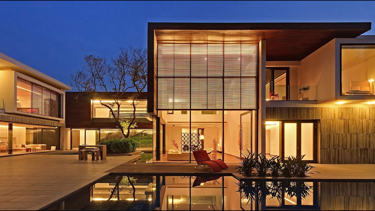 Modern contemporary luxury house in new delhi india