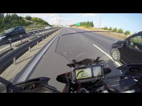 İstanbul-Sakarya Yolu. Action !!!  Çatlamalı patlamalı Yamaha Tracer 900 Part-2