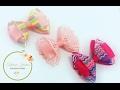 Laço kanzashi 7 com detalhe de fita decorada by  Tatiana Karina DIY/ Tutorial /PAP