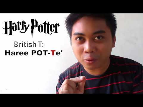 HOW to say HARRY POTTER in Filipino, British or American Accent
