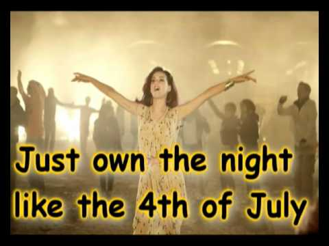 Katy Perry  Firework Lyrics On Screen