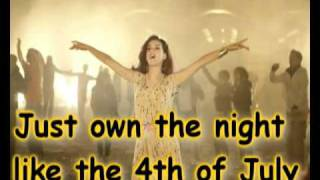 Katy Perry - Firework (Lyrics On Screen)