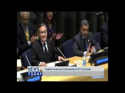 Thailand hands over Chairmanship of G77 to Ecuador
