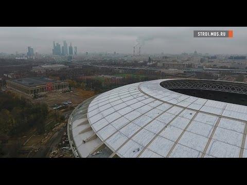 Стадион «Лужники» к ЧМ-2018 новые кресла и крыша