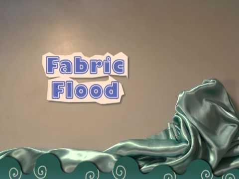 fabric flood in a stop motion