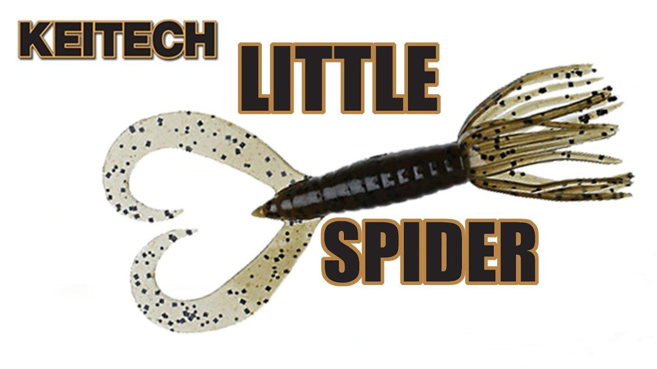 """5pcs Keitech Little Spider 3.5/""""Tail Drop shot Soft Lures Jig Zander Perch Texas"""