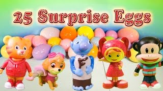 PAW PATROL, Team Umizoomi, Julius Jr Surprise Eggs with Peppa Pig & Wallykazam Surprise Eggs