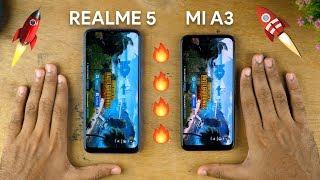 Xiaomi Mi A3 vs Realme 5 SPEEDTEST COMPARISON! Battle of Snapdragon 665s!