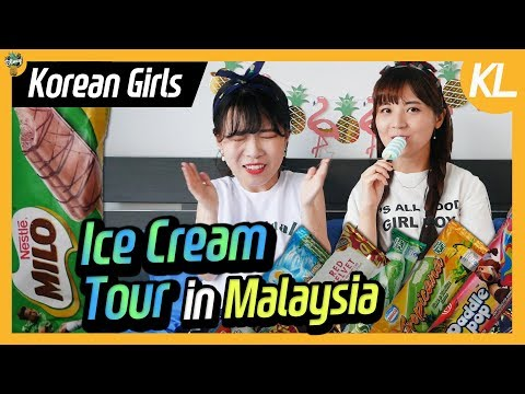 Korean Girls tried Ice Creams in Malaysia 🍍 Ice Cream Mukbang