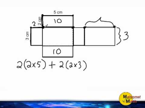 Rectangular Prism Net - Finding The Surface Area - YouTube
