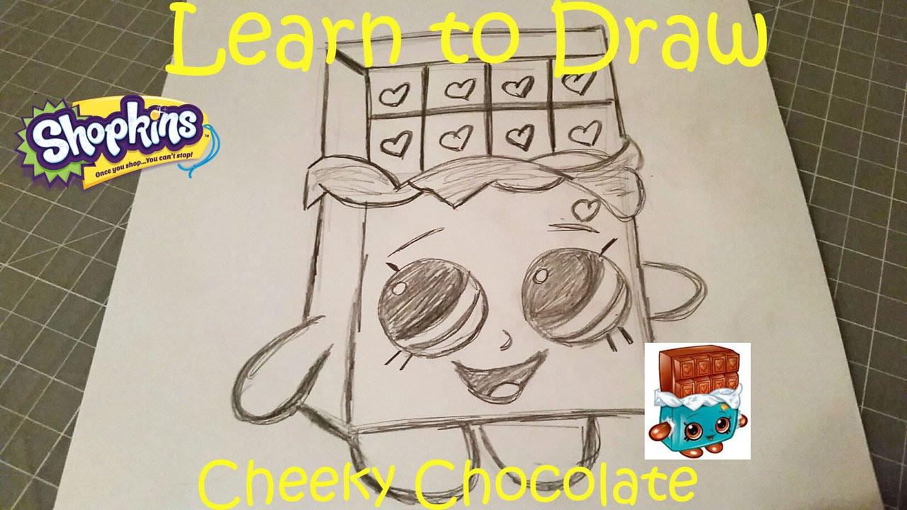Learn To Draw Shopkins Cheeky Chocolate