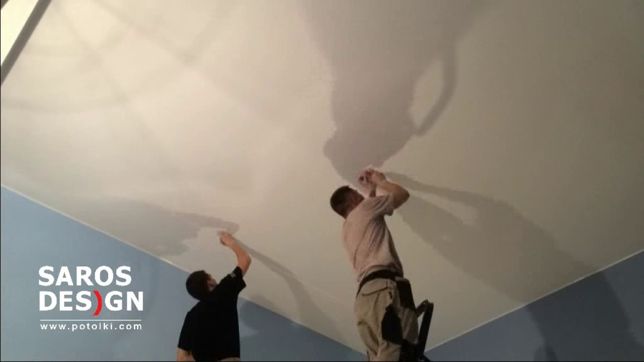 Матовый натяжной потолок в комнату. г.Жуковский - YouTube