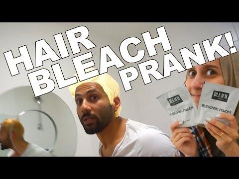 HAIR BLEACH PRANK!!