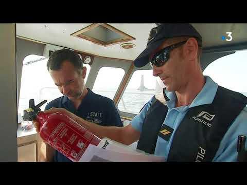 Contrôles en mer au large d'Antibes
