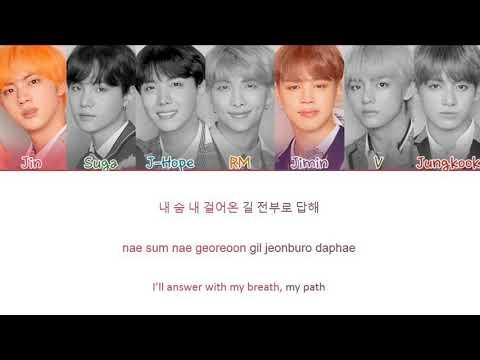 BTS (방탄소년단) - Answer: Love Myself (Color Coded Lyrics Eng/Rom/Han)