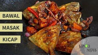 Resepi: - 2 ekor ikan bawal saiz kecil - 1 sb garam - 1 sb kunyit serbuk - 1 biji tomato - 1 biji bwg besar merah/holland - 4 biji cili api - 5 sb kicap manis - 2 sb sos ...