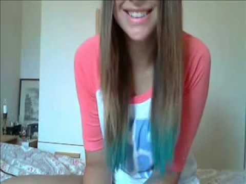 dipdye ombre hair no bleach or dye needed youtube