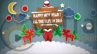 Popup New year card