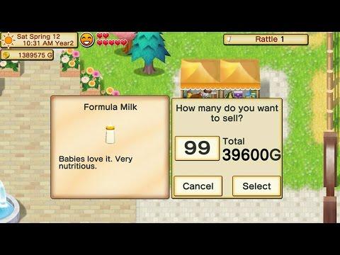 Money Trick using Formula Milk : Harvest Moon Seed of Memories
