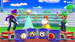 Super Mario Party - MiniGames – Daisy vs Waluigi vs Luigi vs Rosalina