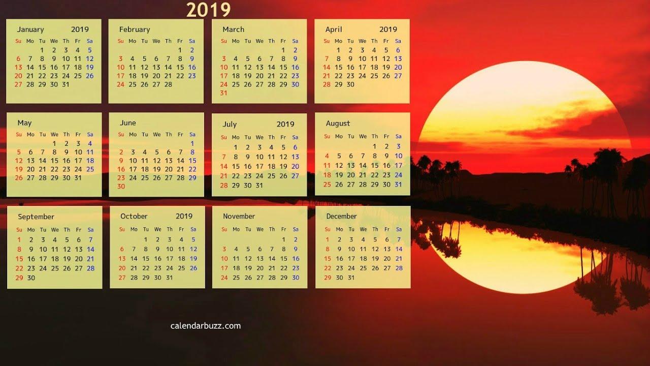 2019 February Calendar Buzz Wallpaper Calendars 2019 Calendar Wallpapers HD Video   YouTube