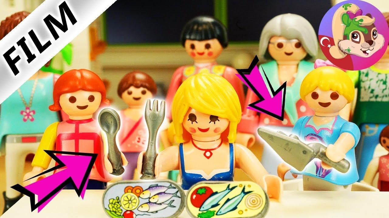 Playmobil hikayeleri türkçe - Kaşık Çatal Kepçe Challange | Girls Edition | Benimle Oyna