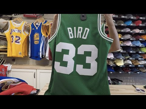 official photos 06916 0b9c3 Larry Bird Mitchell & Ness Throwback Swingman Jersey - YouTube