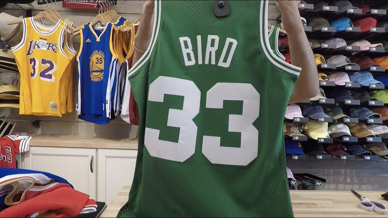 buy online 8e078 ce1fc Larry Bird Mitchell & Ness Throwback Swingman Jersey