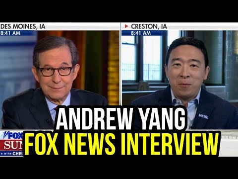 Andrew Yang On Fox News Sunday W/ Chris Wallace | Full Interview January 26th 2020