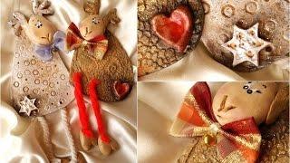 Новогодние олени из солёного теста Очень красивые и немножко гламурные HandMade