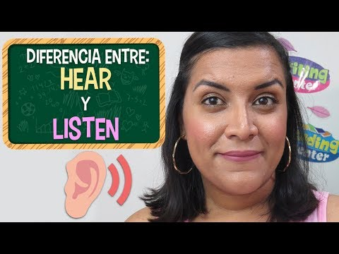 Q significa to hear en ingles
