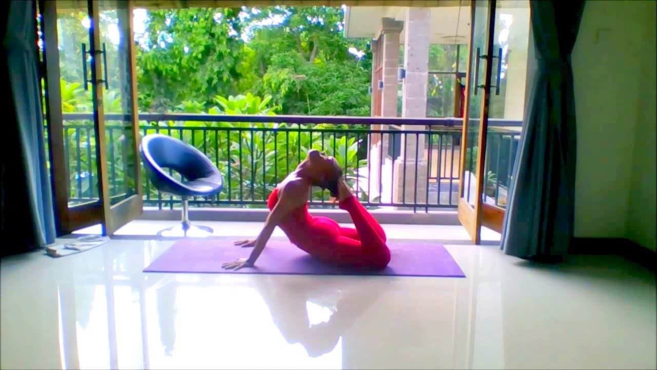 Here I Practice King Cobra Pose Or Bujangasana Yoga