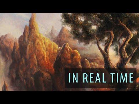 Painting A Sunlit Mountain Range - Ryan O'Rourke