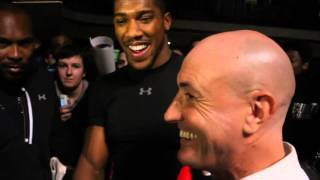 MOBBED! ANTHONY JOSHUA MAKES TIME FOR ALL THE FANS @ YORK HALL AHEAD OF MARTIN WORLD TITLE CLASH