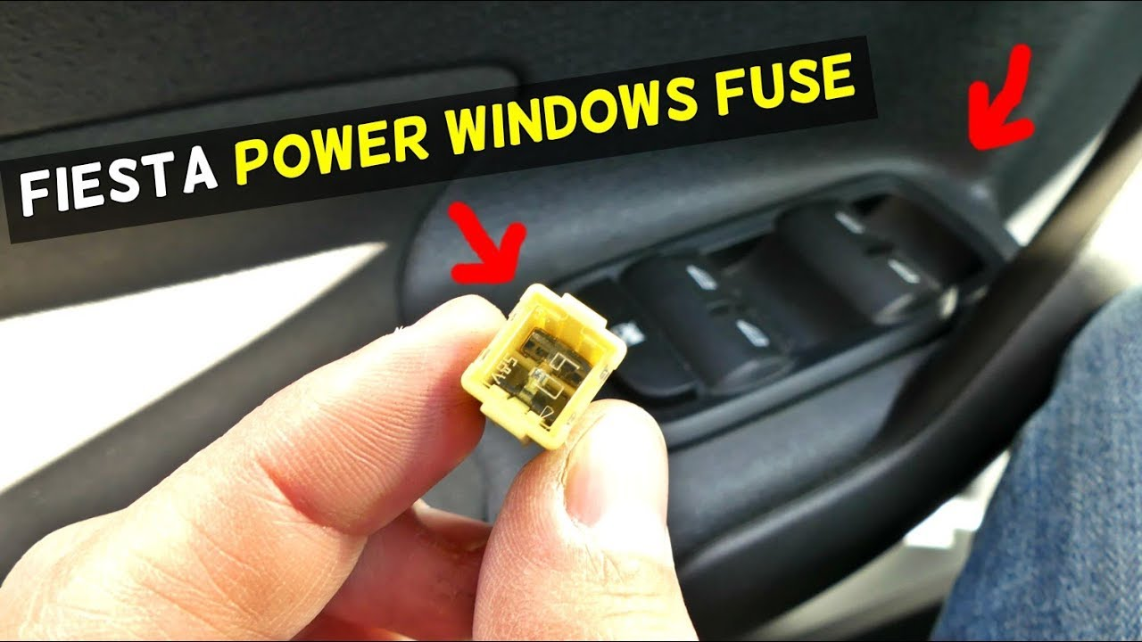 Ford Fiesta Power Windows Fuse Location Mk7 St Youtube