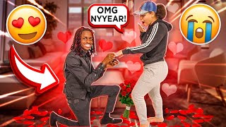 I FINALLY PROPOSE TO MY GIRLFRIEND!!! (cute reaction)