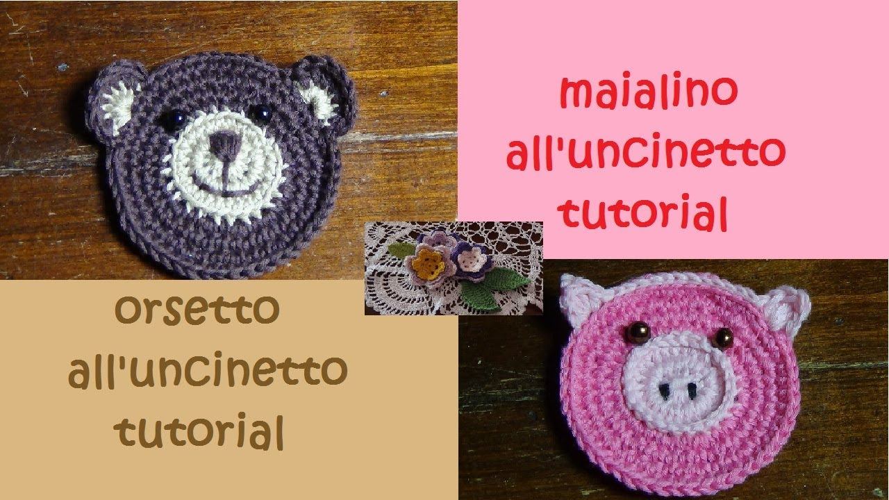 Animaletti Alluncinetto Tutorial Orsetto E Maialino Youtube
