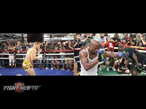 SIDE BY SIDE - FLOYD MAYWEATHER VS. CONOR MCGREGOR COMPARISO
