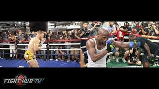 SIDE BY SIDE - FLOYD MAYWEATHER VS. CONOR MCGREGOR COMPARISON - SHADOW BOXING