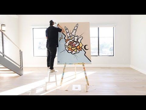 Painting In A Penthouse Studio