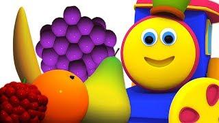 bob frutti treno   3D video   Bob Fruits Train   Bob The Train Italiano   Filastrocche per bambini