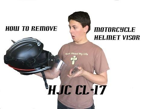 How to remove a helmet visor (HJC CL-17)