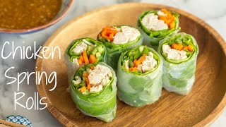 How To Make Chicken Spring Rolls (Recipe)
